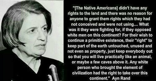 Controversial Ayn Rand Quote On Native Americans Objectivism
