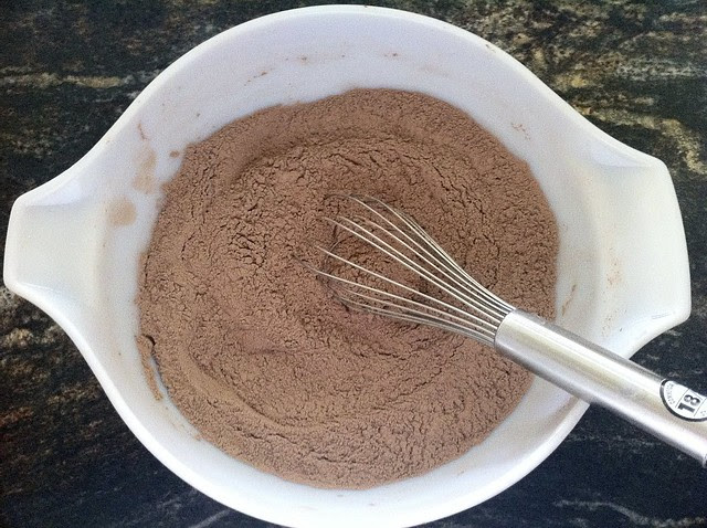 Dry Ingredients Whisked in a Large Bowl