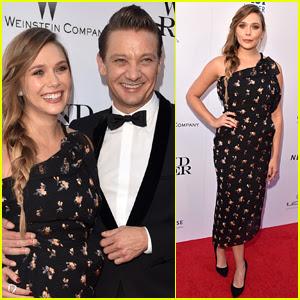 Elizabeth Olsen & Jeremy Renner Premiere 'Wind River' in LA