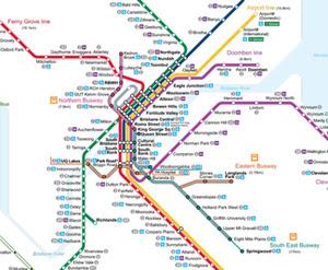 Brisbane Rail Map Train Station Map Brisbane ~ CINEMERGENTE Brisbane Rail Map