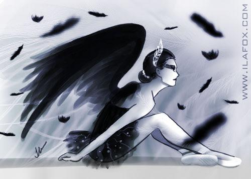 Cisne Negro, Black Swan, ilustração, by ila fox
