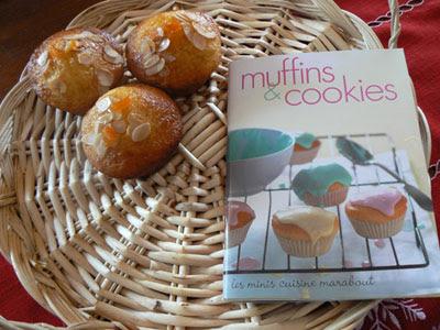muffin vus de haut + livre