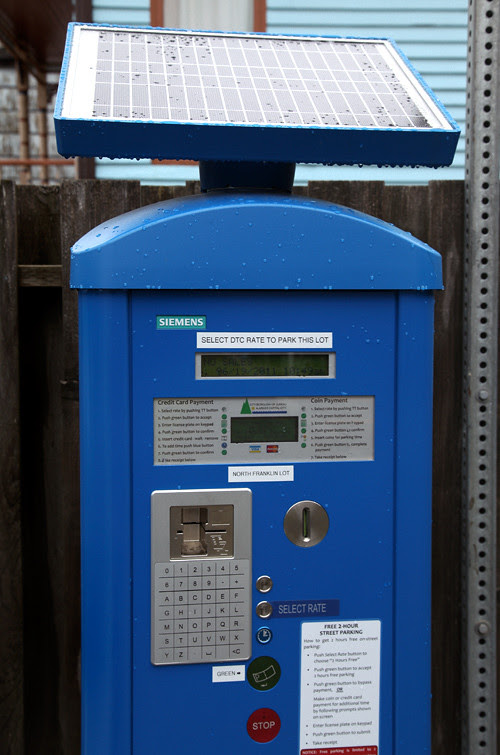 solar-powered parking meter, Juneau, Alaska