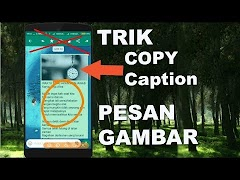 Tips Copy Keterangan Pesan Gambar/Video Whatsapp