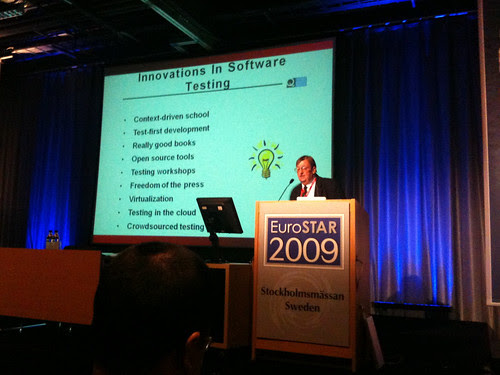 Lee Copeland's opening keynote at EuroSTAR 2009
