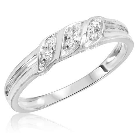 1/15 Carat T.W. Diamond Women's Wedding Ring 10K White
