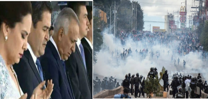 Entre emboscadas y rechazo a nuevo mandato de JOH miles de manifestantes desafiaron el miedo