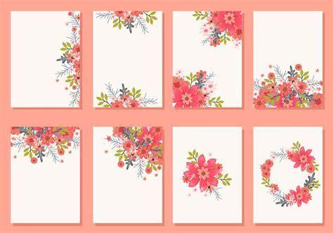 Floral Wedding Invitation Card Vectors   Download Free
