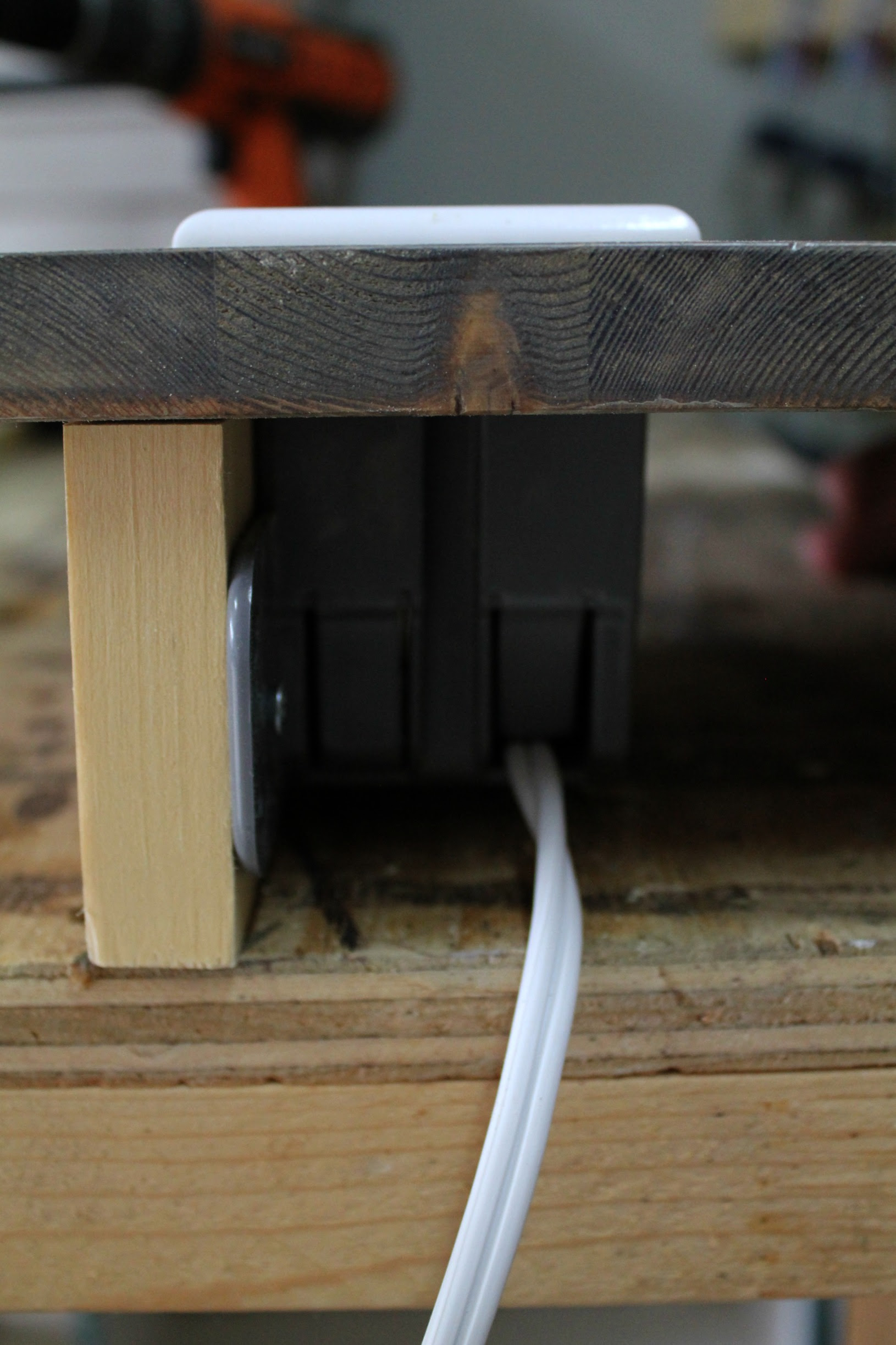 DIY built-in extension outlet