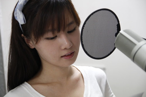 Tao Sha during voice recording session