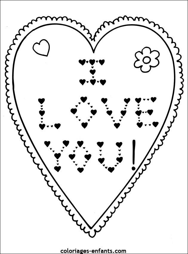Coloriage De La St Valentin Sur Coloriages Enfantscom