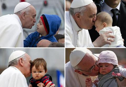 Resultado de imagen de el papa francisco besado a los niños