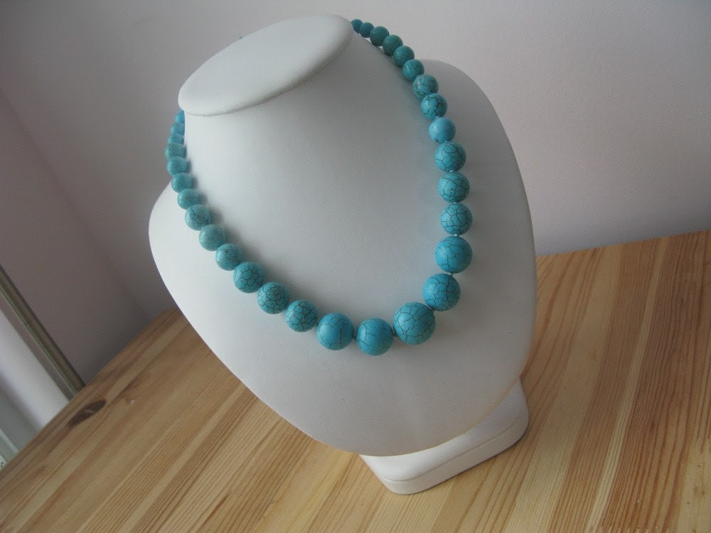 ElectricLollipop Hand Knotted Turquoise Necklace