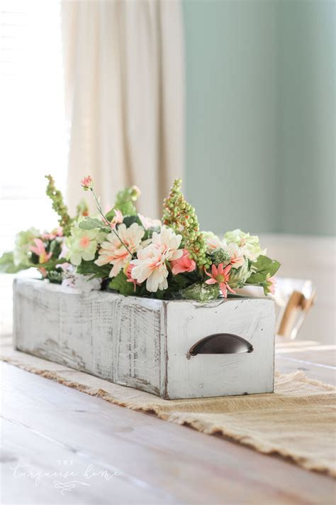 DIY Farmhouse Wooden Box Centerpiece   Just Imagine