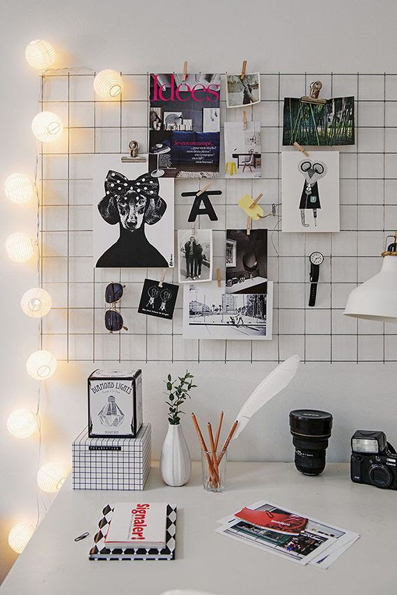 DIY: Iron mesh moodboard | #f21home