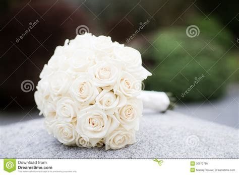 White rose wedding bouquet stock photo. Image of blossoms