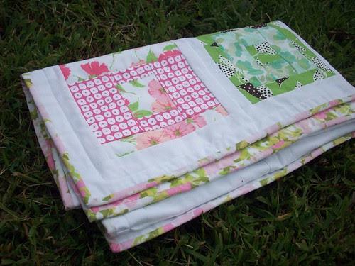 Vintage sheet quilt finished