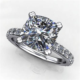 sage ring ? 2.5 carat cushion cut NEO moissanite and