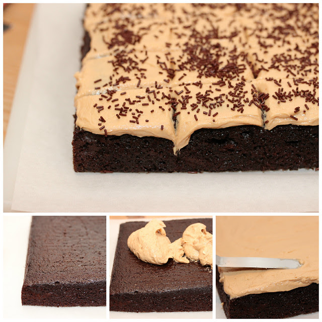 Chocolate Cake Biscoff Frosting collage