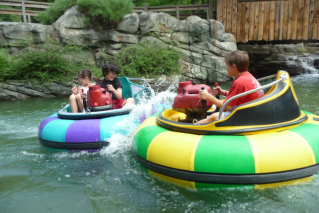 Splashing Bumper Boats