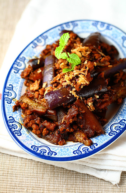 Eggplant & Minced Meat in XO Sauce