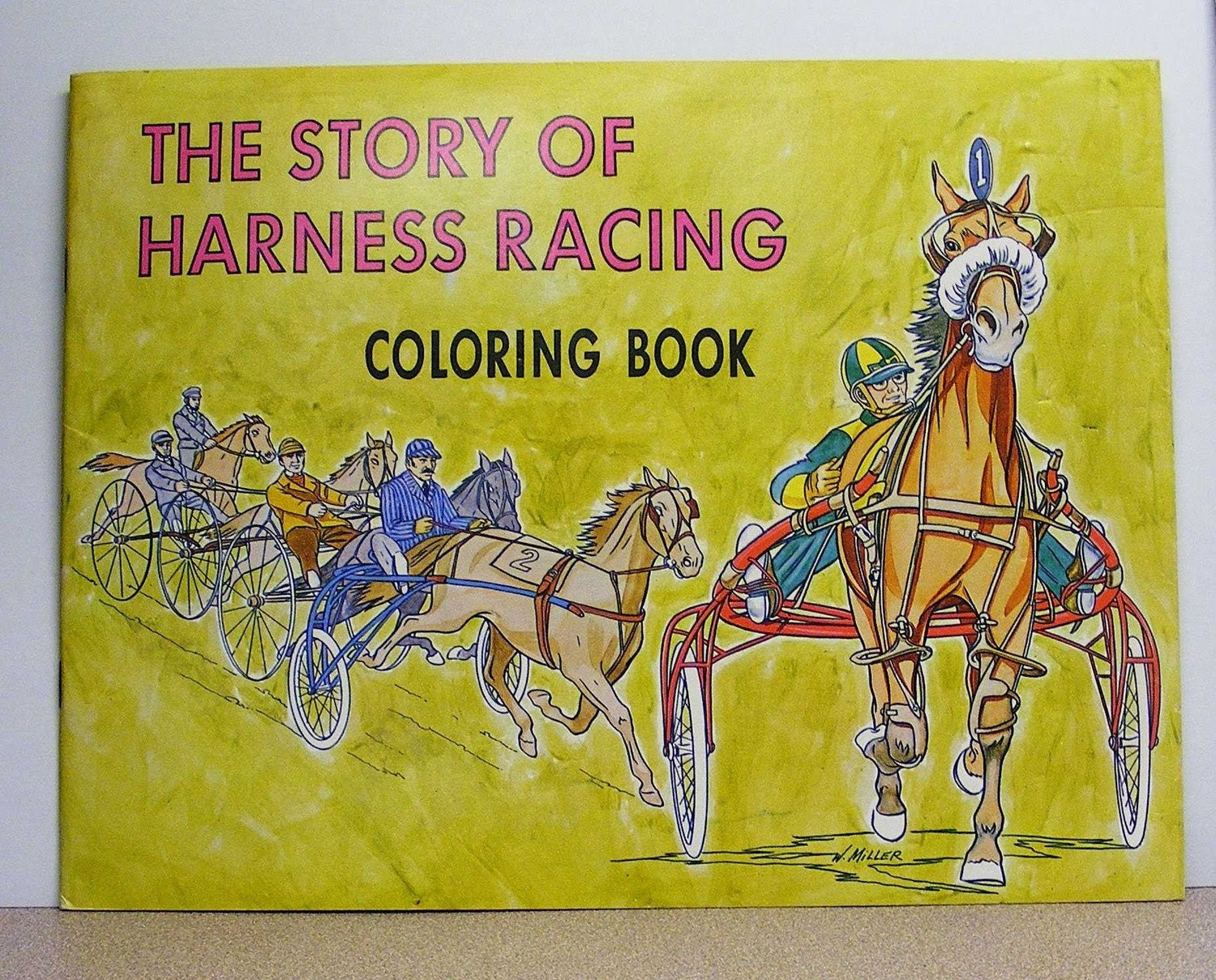 Harness horse racing vintage coloring book by ...