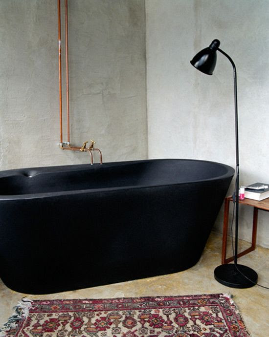 Pay attention to where the pipes are in relationship to a bed that may be put on the wall opposite. Move the bed away from the wall. black tub. For more on #FengShui bathrooms visit me at http://patricialee.me/2012/08/07/feng-shui-bathroom-tips/