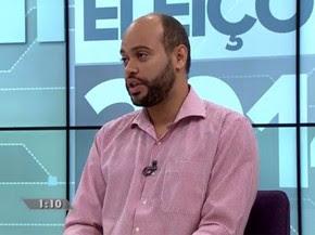 Zé Gomes, candidato do PSOL ao governo de Pernambuco. (Foto: Reprodução / G1)