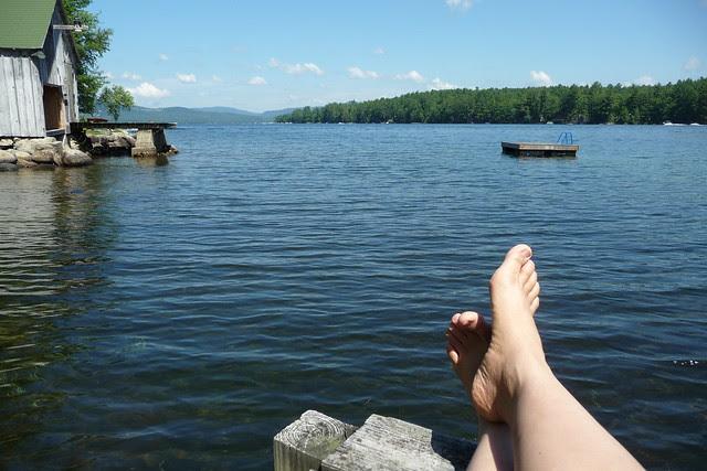 Feet on the dock