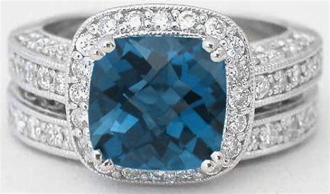 Vintage London Blue Topaz Engagement Ring (GR 6109)