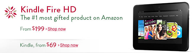 Kindle Fire HD, the #1 most gifted product on Amazon