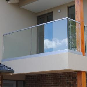 Wall Bracket Tempered Glass Terrace Steel Balcony Railing Designs