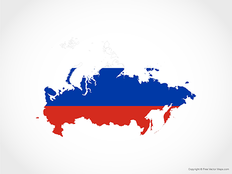 Vector Map Of Russia Flag Free Vector Maps