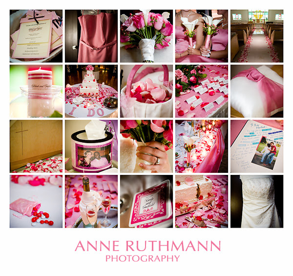 Pink Wedding Detail Inspiration Board