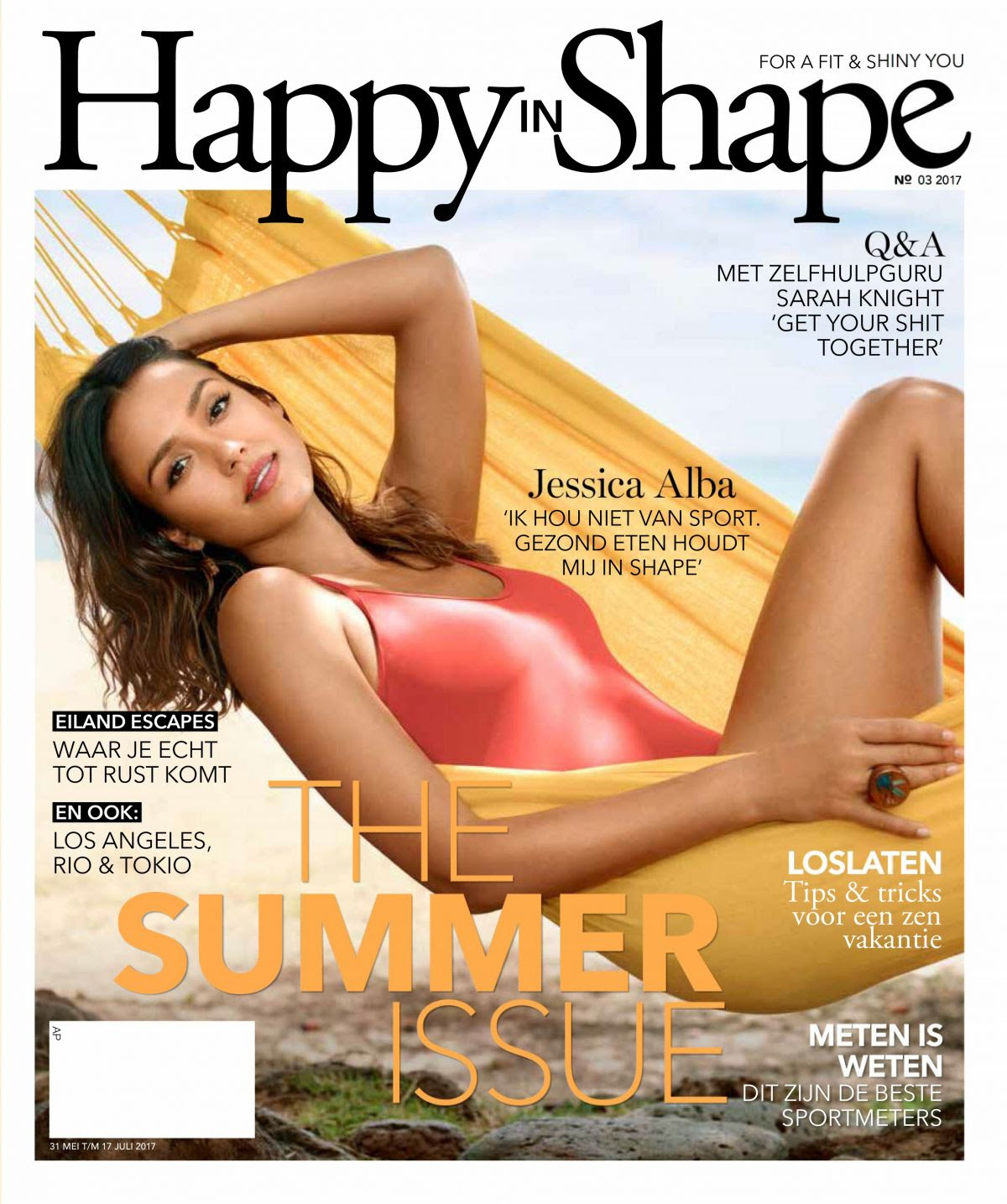 JESSICA ALBA in Happy in Shape Magazine, July 2017