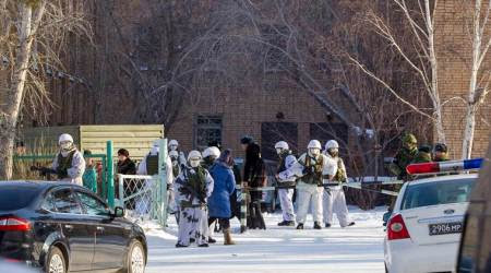 Russian student injures six in an axe attack at his school
