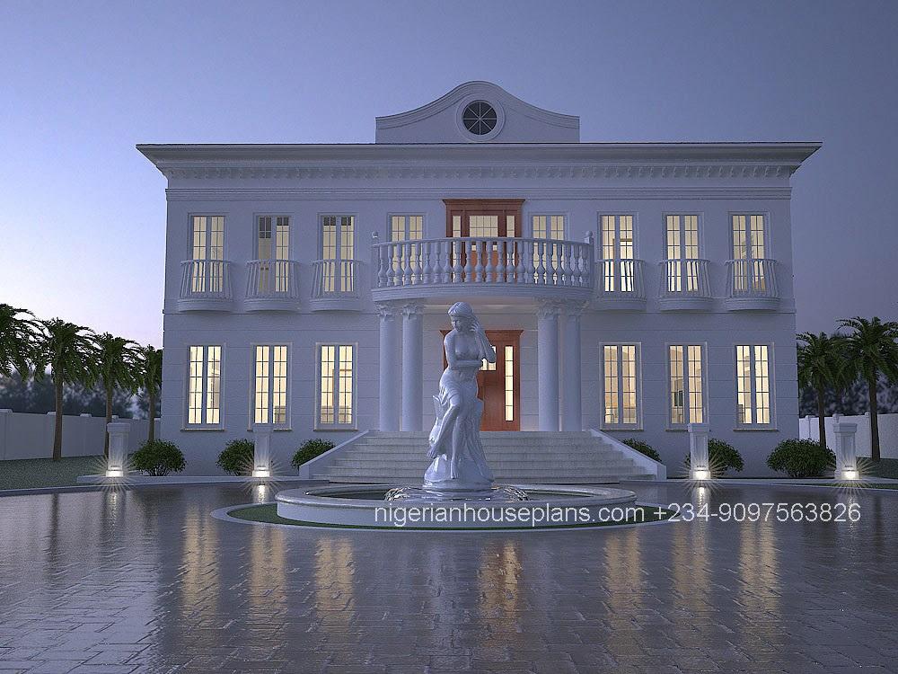 6 Bedroom Duplex (Ref: 6013) - NigerianHousePlans