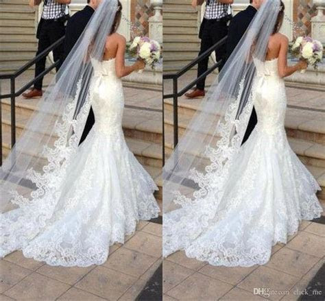 Princess Wedding Veils Cheap Long Lace Bridal Veils One