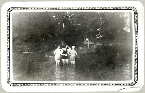 Three Girls Swimming