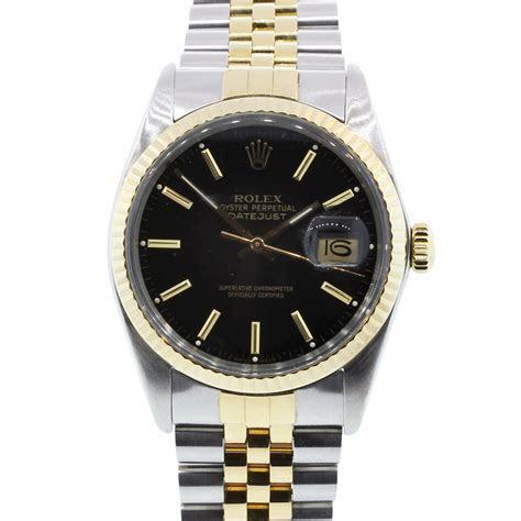 Rolex Datejust 16013 Black Dial Jubilee Two Tone Watch
