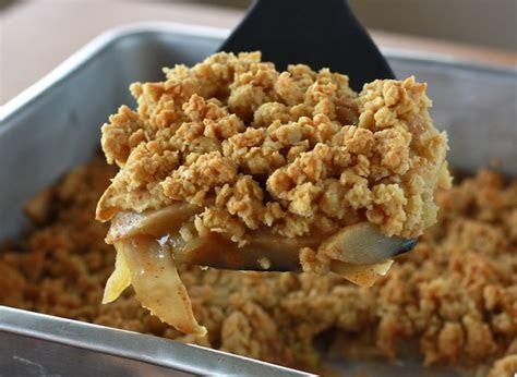 skinny apple crisp  thanksgiving dessert healthy haven