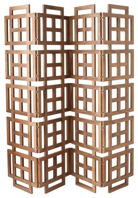 Walnut Room Screen Divider - modern - screens and wall dividers ...