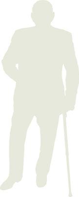 elder disabled silhouette