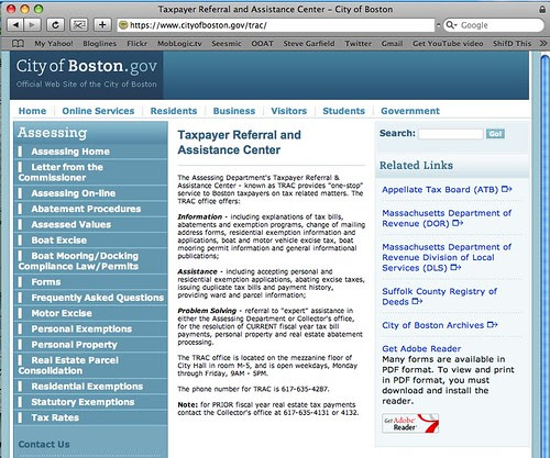 City of Boston Online Services