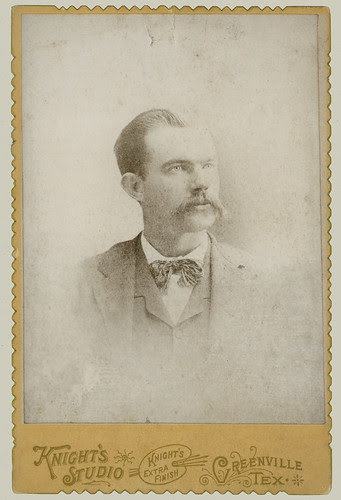 Cabinet Card man with bow tie enhanced