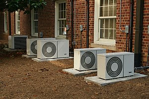 English: Series of air conditioners at UNC-CH.