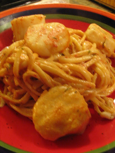 Baked Linguine with Scallops