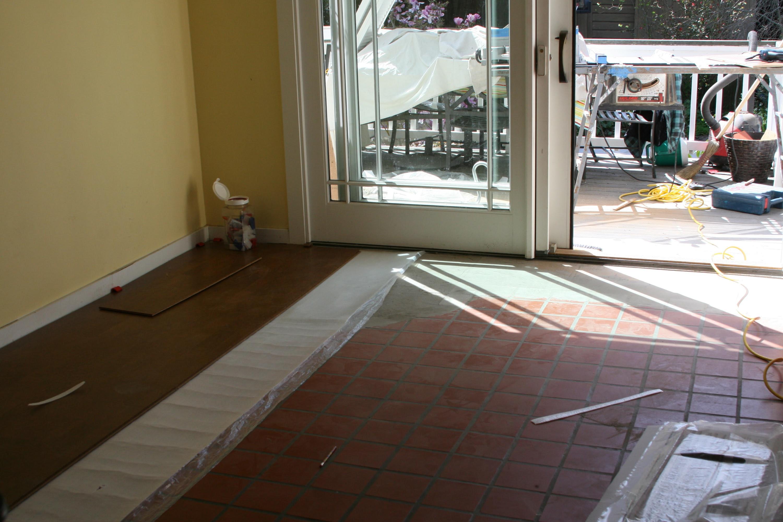 Floor Tiles Cork Tiles On Concrete Floor