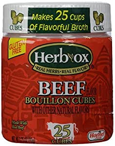 Amazon.com : Herb Ox Beef Bouillon Cubes - 25 Cubes ...