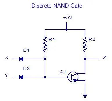 Discrete NAND Gate